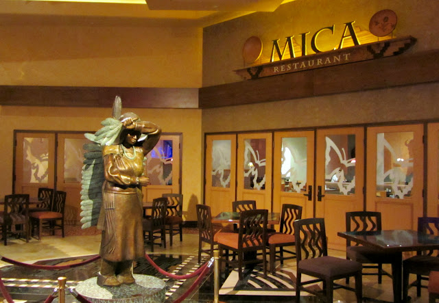 Butterfly Dancer sculpture at the Mica restaurant in New Mexico