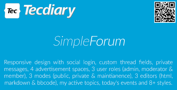 Simple Forum v1.3.7 - Responsive Bulletin Board