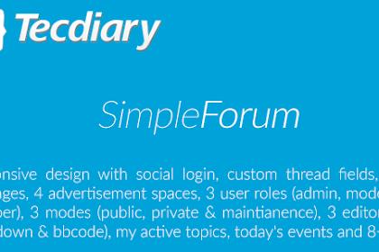 Download Simple Forum v1.3.7 - Responsive Bulletin Board