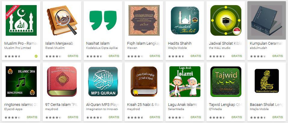 7 Aplikasi Islami Untuk HP Android Gratis dan Terbaik
