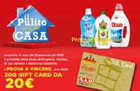 """Concorso """"Il pulito per la tua casa"""" : vinci 200 Gift Card Megamark da 20€"""