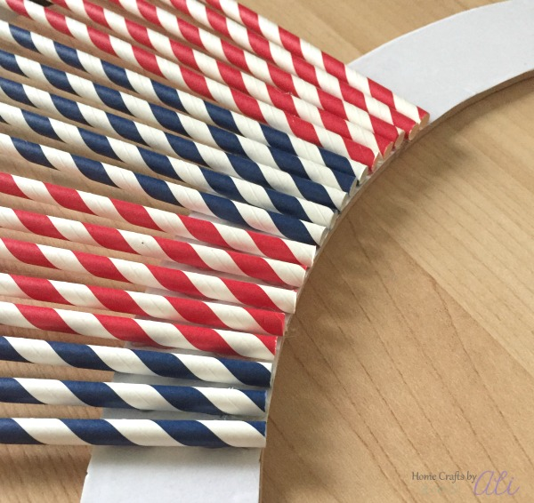 red white and blue straw wreath tutorial