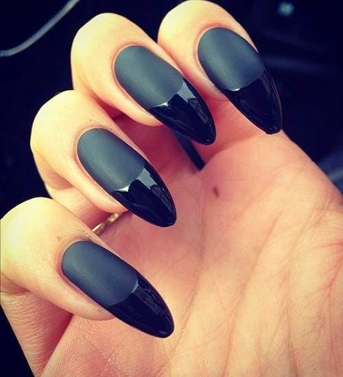 uñas decoradas con black nail design
