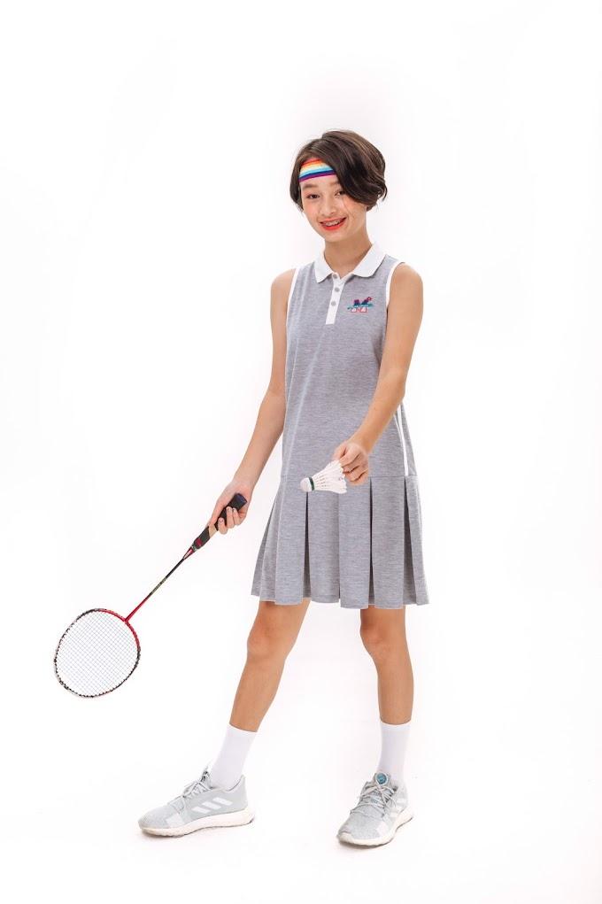 Đầm Bé Gái Emboridered sleeveless polo dress