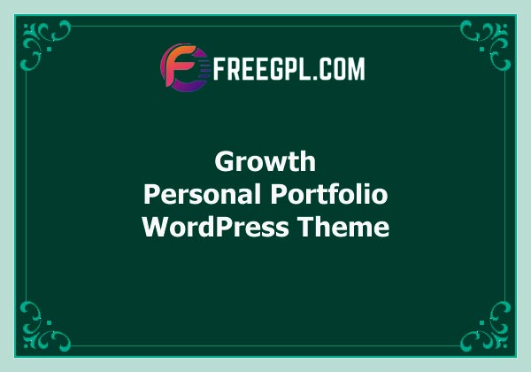 Growth – Personal Portfolio Theme Free Download