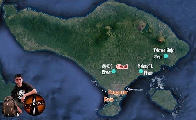 Rafting-Bali-mapa