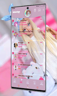 Princess Girl Theme For YOWhatsApp & Fouad WhatsApp By Valéria