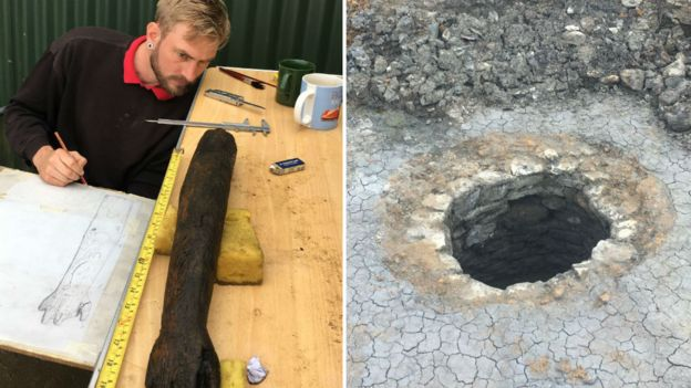 Unusual Roman wooden arm found during Northamptonshire excavation