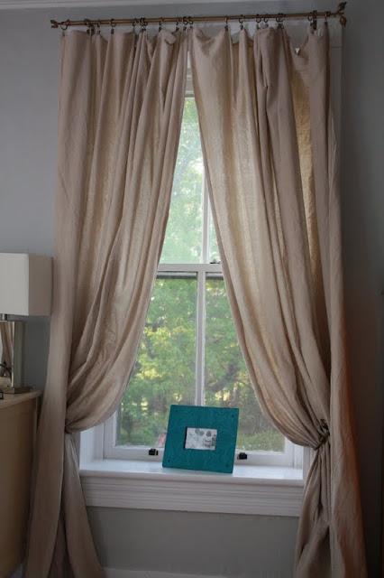 GET THE LOOK  BELGIAN LINEN WINDOW PANELS DROP CLOTH