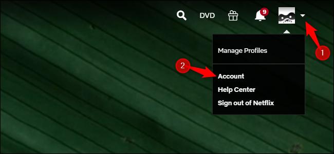 Accesso account Netflix