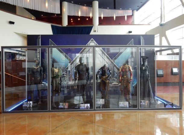 Black Panther costume exhibit ArcLight Hollywood