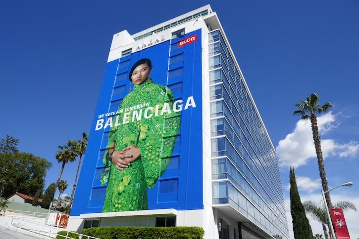 Balenciaga vote for tomorrow S20 billboard