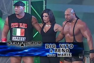 WCW Starrcade 2000 - Big Vito & Reno (w/ Marie) faced Kronik