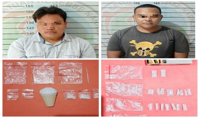 Polres Lampura Ciduk Dua Tersangka Penyalahgunaan Narkotika