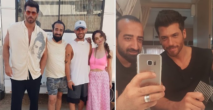 Can Yaman on the set of a new commercial but which one?