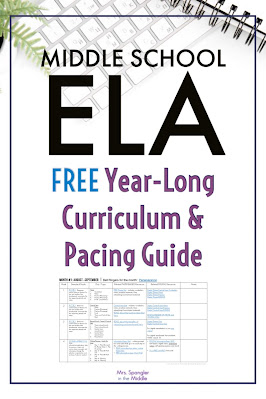 Get an outline for teaching all the reading and writing standards in your Middle School ELA class.