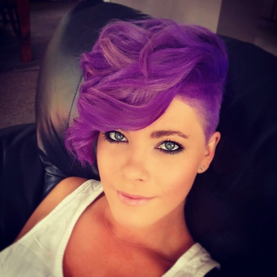 Purple colors for short hair  The HairCut Web