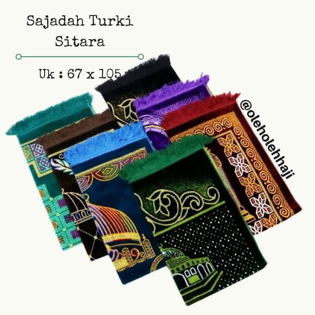 Sajadah Turki Sitara, oleh oleh haji dan umroh, perlengkapan haji dan umroh, sajadah, perlengkapan solat, perlengkapan haji dan umroh, mekah dan madinah, souvenir haji dan umroh, souvenir aqiqah.