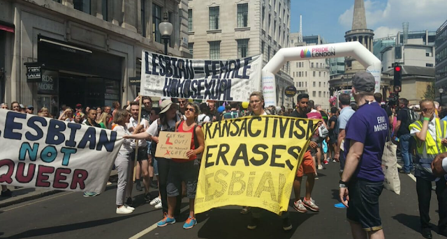 Transphobic lesbians hijacked the London Gay Pride Parade on Saturday - Force Mayor Khan to Walk Behind Them