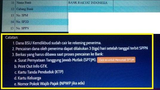 gambar Berkas Pencairan Dana BSU GTK Non PNS yang Wajib Dibawa Ke BANK