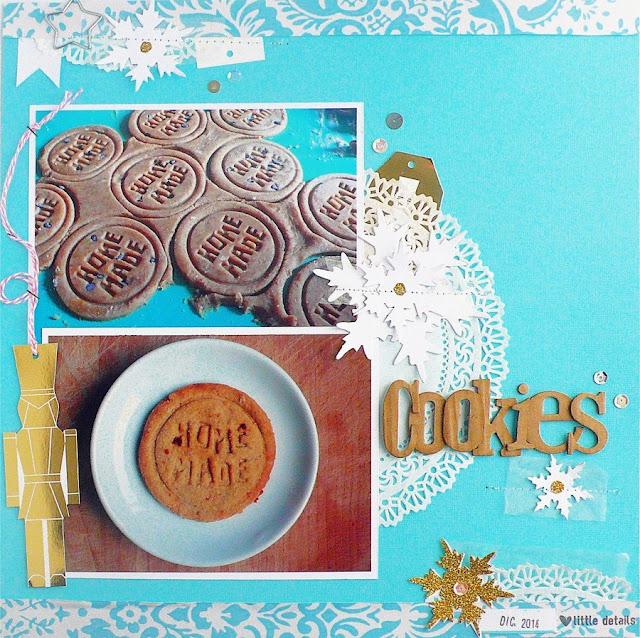 Scrapbook layout - Homemade Christmas Cookies