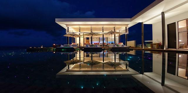 Jumeirah Dhevanafushi Pool, Maldives.