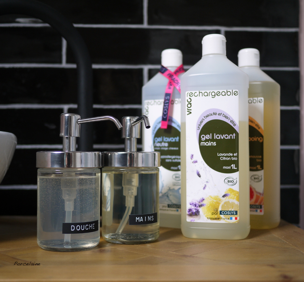 Coslys : des soins en vrac - test gel douche, shampoing et gel lavant pour les mains (+ concours)