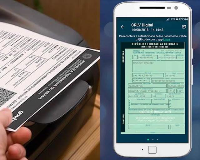 Certificado de registro e licenciamento de veículos (CRLV) volta a ser impresso em todo Brasil
