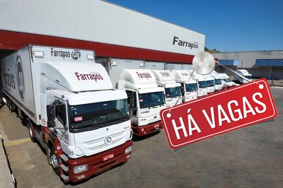 Grupo Farrapos abre vagas para Motorista Categoria D