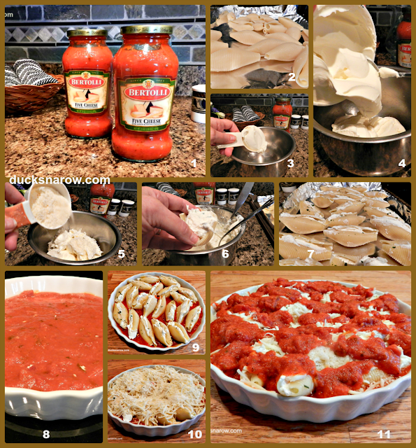 stuffed shells, Italian food