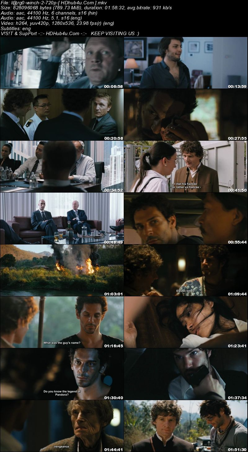 Largo Winch II 2011 Hindi Dual Audio 720p BluRay Esubs 750mb Download