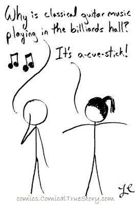 Acoustic vs a cue stick