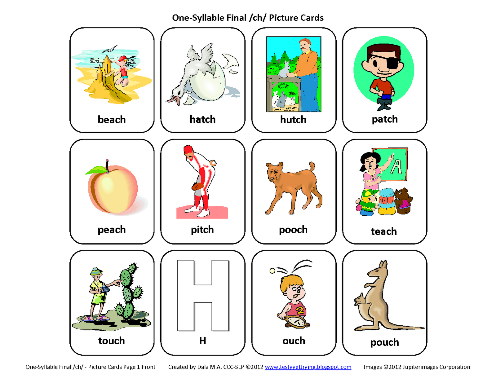 Speech Therapy Printable Activities