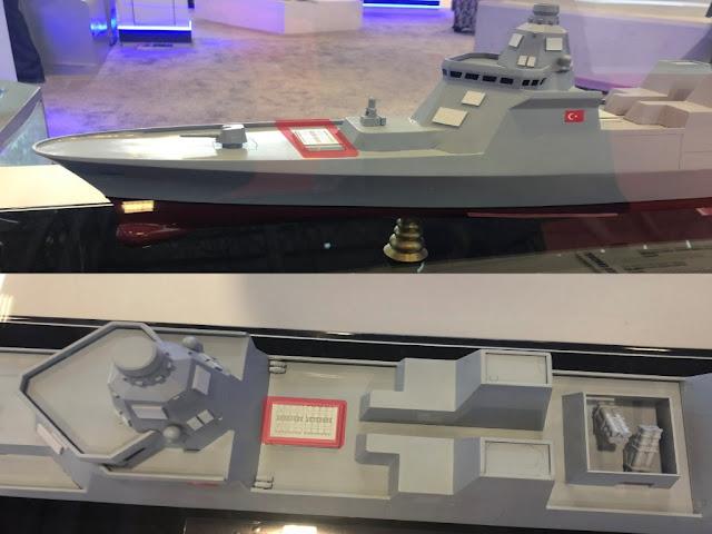 """eklenmiştir.Daha önce gemide 32 adet (VLS) dikey atış sistemi mevcut iken ön-orta kısma 32 adet daha VLS hücresi yerleştirilmesiyle bu sayı 64 adete çıkarılmıştır.Tüm bu değişiklikler sonucu geminin yeni boyu 166 metreye, deplasmanı ise 7000 tona ulaşmış buda daha önce """"TF-2000 HAVA SAVUNMA FİRKATEYNİ"""" olarak adlandırılan platformun adının """"TF-2000 HAVA SAVUNMA MUHİRİBİ (DESTROYERİ)""""olarak değiştirilmesini bir bakıma zorunlu hale getirmiştir."""