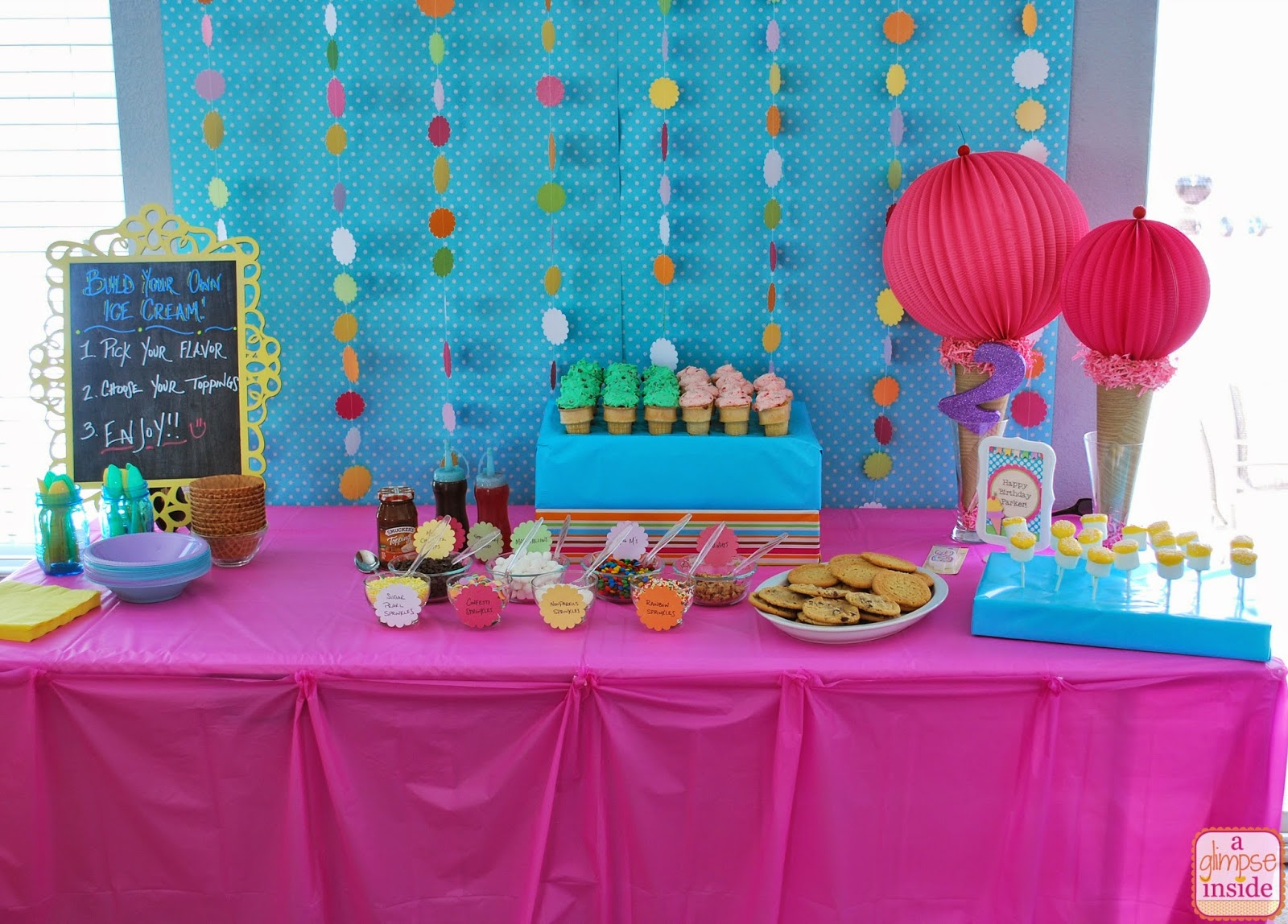 http://www.aglimpseinsideblog.com/2014/06/ice-cream-birthday-party-decorations.html
