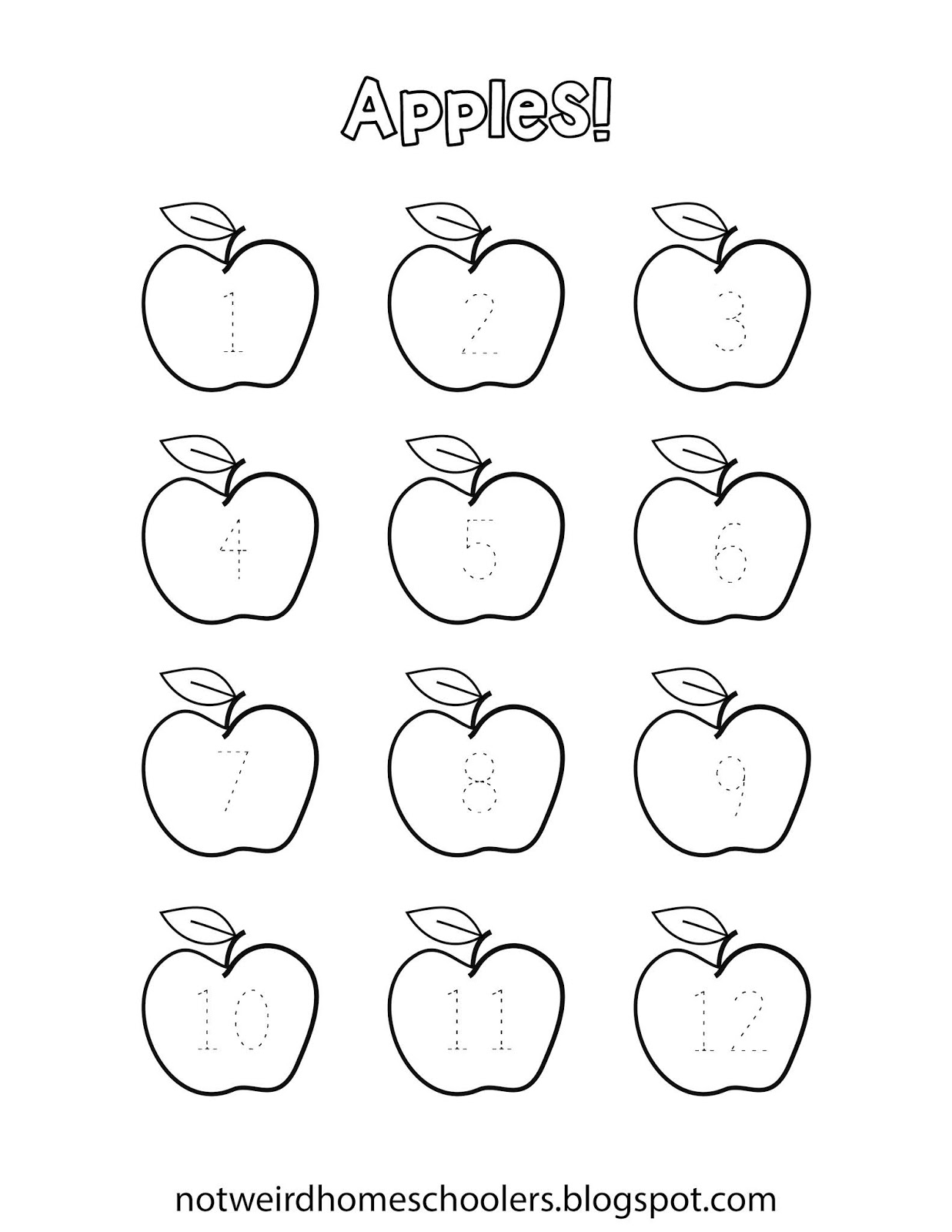 Free Homeschooling Resource Number Tracing Worksheet