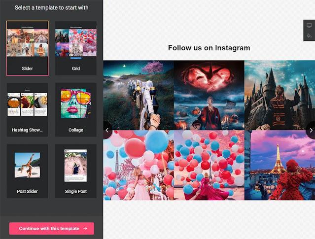 Instagram Профиль на сайт