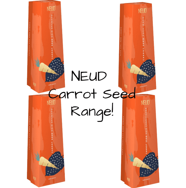 neud carrot seed shampoo face wash conditioner lotion