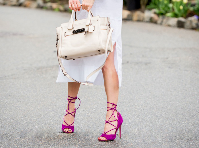 steve madden pink lace up sandals