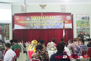 Kodim 0718/Pati Laksanakan Sosialisasi Pembentukan Komcad di Aula Makodim Pati