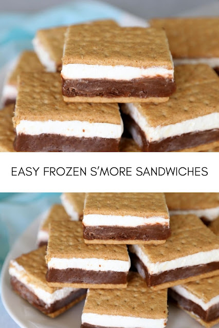 EASY FROZEN S'MORE SANDWICHES
