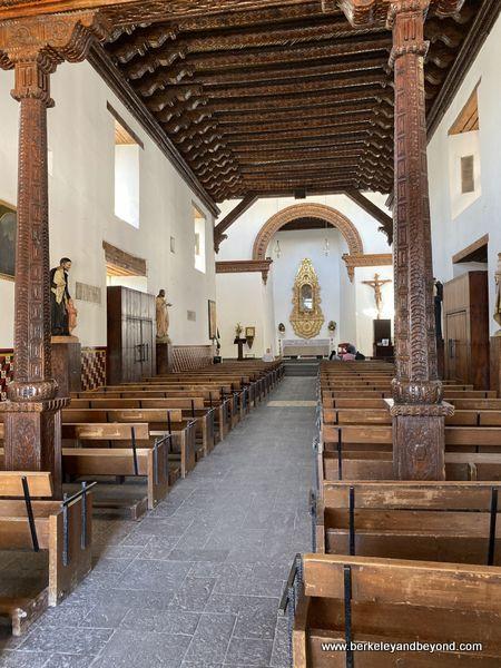 interior of La Mision de Nuestra Senora Guadalupe in Juarez, Mexico