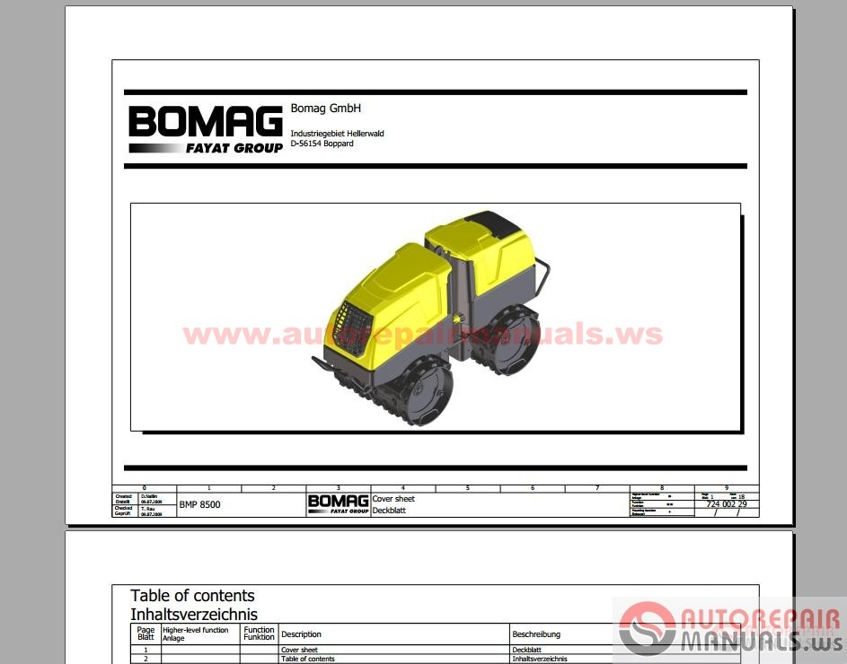 free auto repair manual bomag full set service manuals service rh freeautorepairmanualws blogspot com bomag bw900-2 wiring diagrams bomag roller wiring diagram