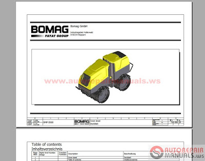 Bomag Full Set Service Manuals Service Trainning on Bomag Roller Parts Diagram