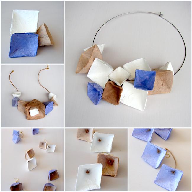 Eco wedding design gioielli geometrici di carta dal for Gioielli di design