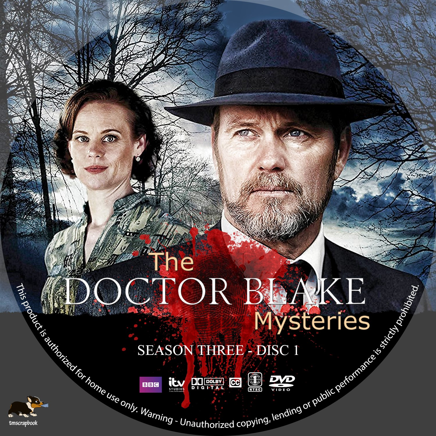 The Doctor Blake Mysteries Season 3 Disc 1-2 DVD Label
