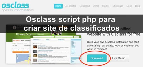 Osclass script php para criar site de classificados