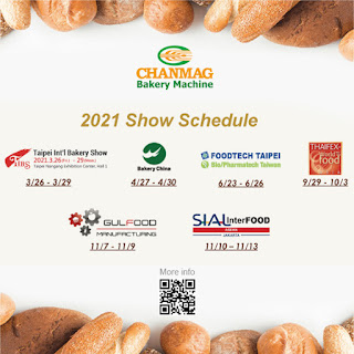 2021 CHANMAG Bakery Show Schedule