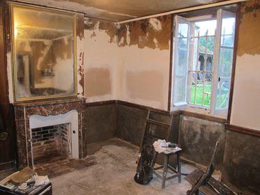 Miroir francaise, ancien, antiques, marble fireplace,