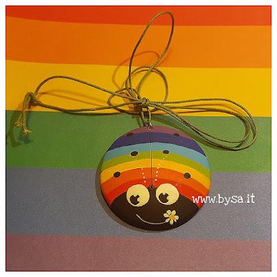 coccinelle arcobaleno gaypride dipinte gadget